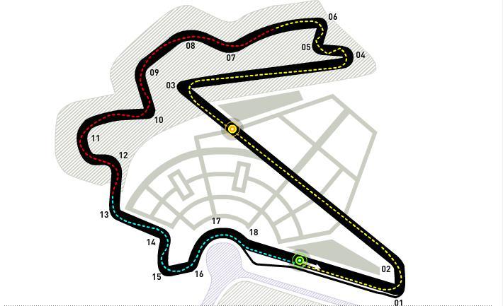 Гран-при Корея - карта Кореи и примерное место расположение трассы.